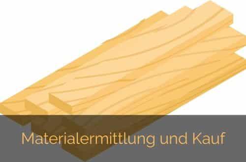 Materialermittlung kauf des Laminats