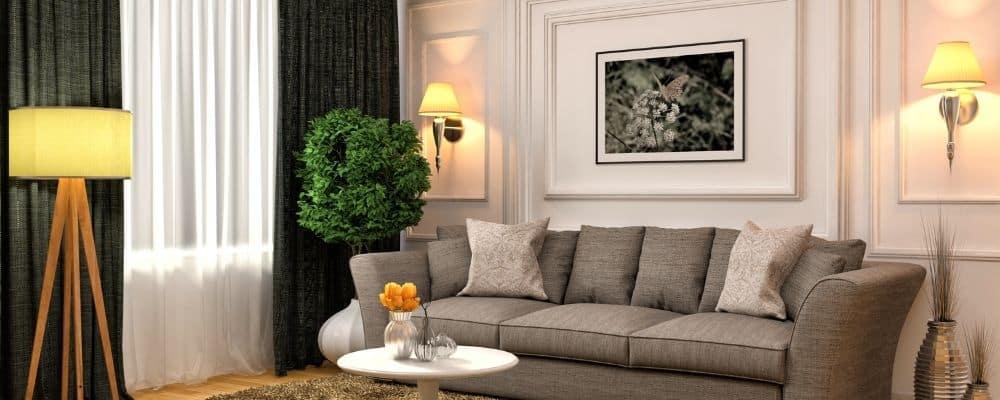 Wie hoch sollte ein Bild ueber dem Sofa haengen