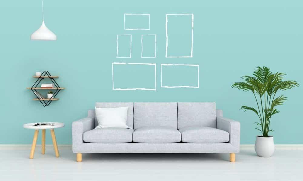 wie ordne ich Bilder an der Wand richtig an 1