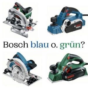 Bosch grün blau