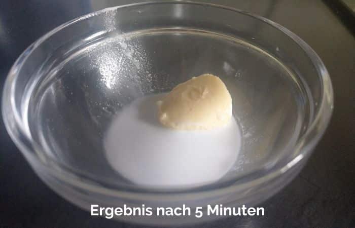 Fett Verstopfung Experiment 4
