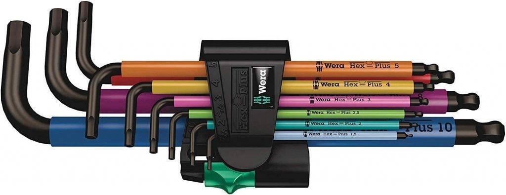 Wera Multicolour Winkelschluesselsatz 9tlg